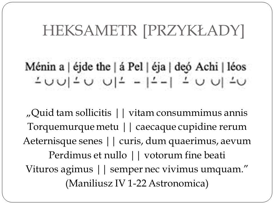 HEKSAMETR [PRZYKŁADY]